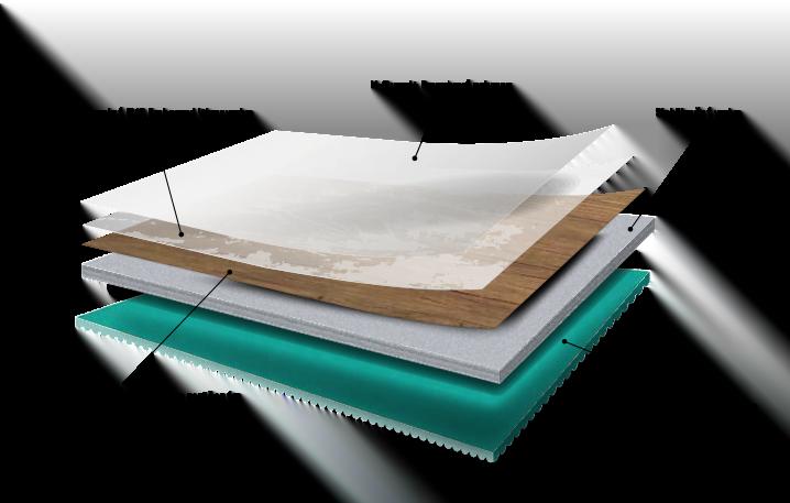 Vinylová podlaha Designflooring LooseLay - řez podlahou